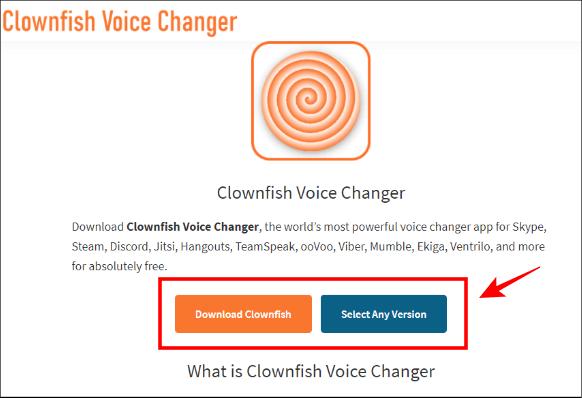download clownfish voice changer
